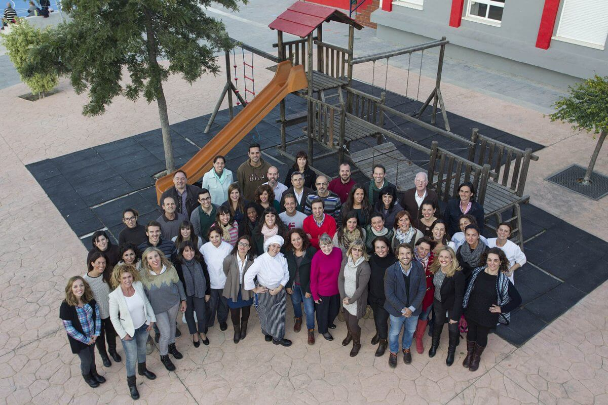 Grupo de profesionales del colegio El Pinar