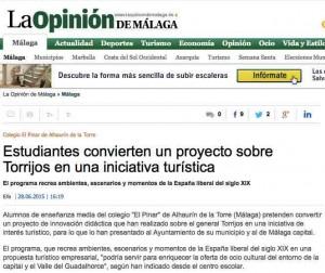La Opinión de Málaga y Torrijos y Colegio El Pinar