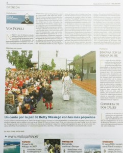 Betty Missiego en Málaga Hoy y El Pinar