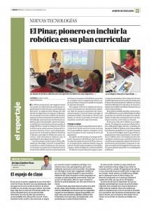 Robótica en El Pinar y La Opinión de Málaga.