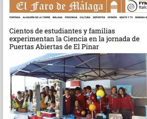 Semana de la Ciencia y Colegio Privado El Pinar y Faro de Málaga