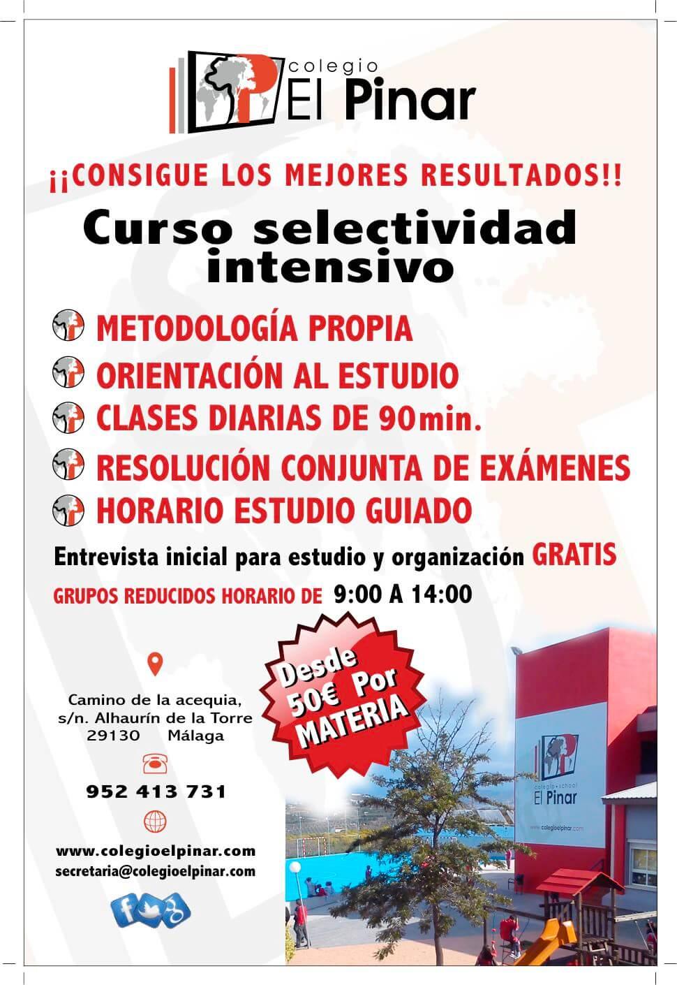 Cartel Academia Verano y Colegio Privado El Pinar