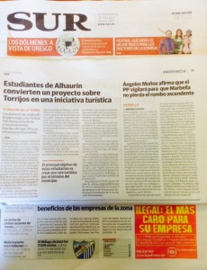 Diario Sur y Torrijos y Colegio El Pinar