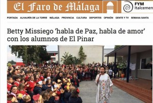 Betty Missiego y el Faro de Málaga y Día de La Paz en El Pinar