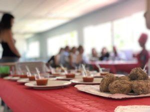 Comida en el colegio El Pinar
